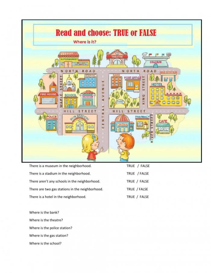 Places In My Neighborhood Worksheet