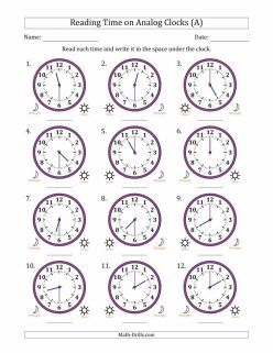 Reading Clocks