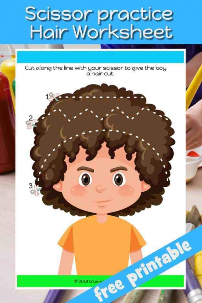 Scissor Skills Worksheet Free Printable Helps Young Children