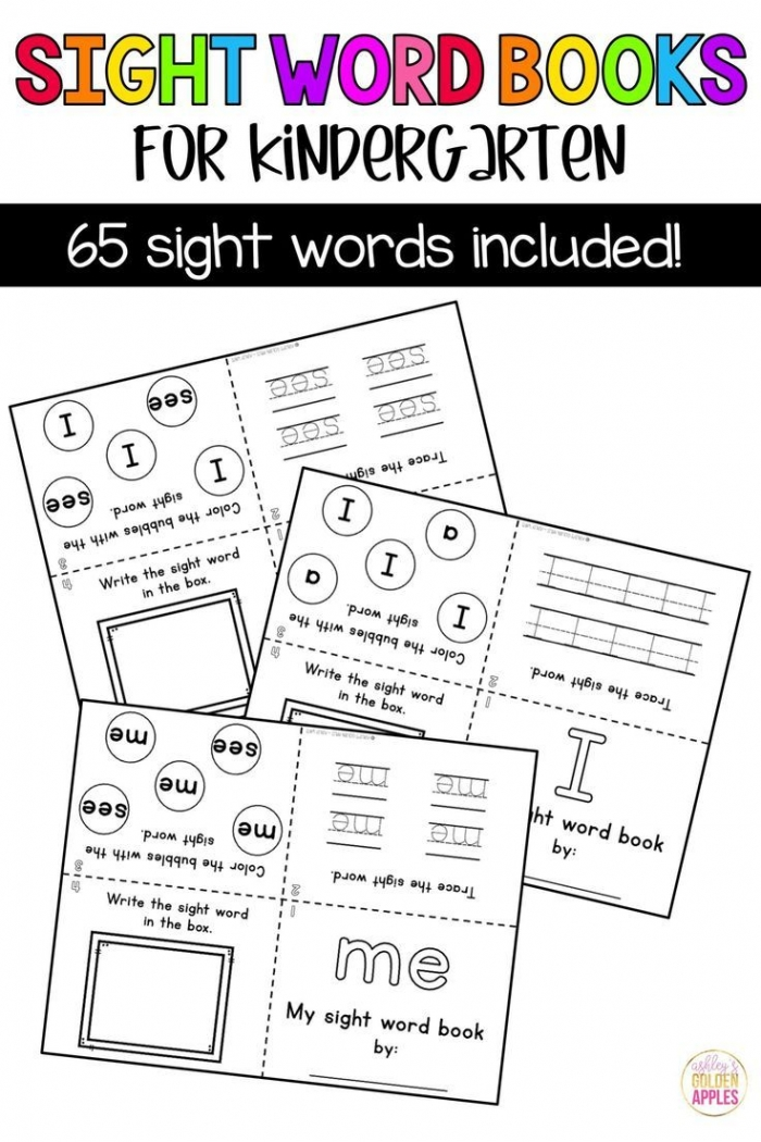 Sight Words Are An Essential Part Of Kindergarten With These