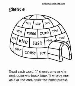 Reading Silent E Words