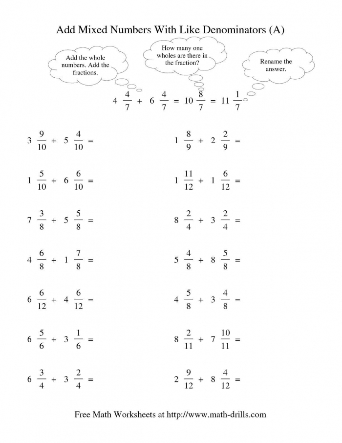 The Adding Mixed Fractions