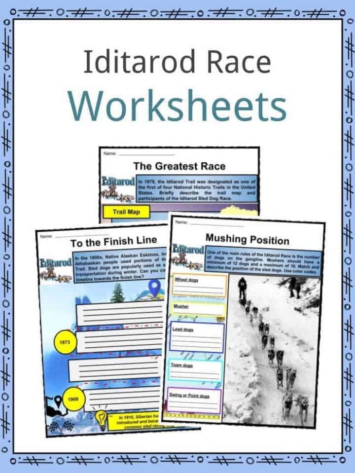 The Iditarod  Facts  Worksheets   Historical Information For Kids