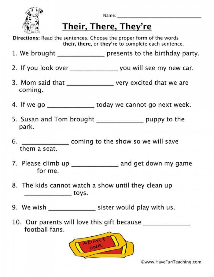 Their  There  Theyre Homophones Worksheet  Have Fun Teaching