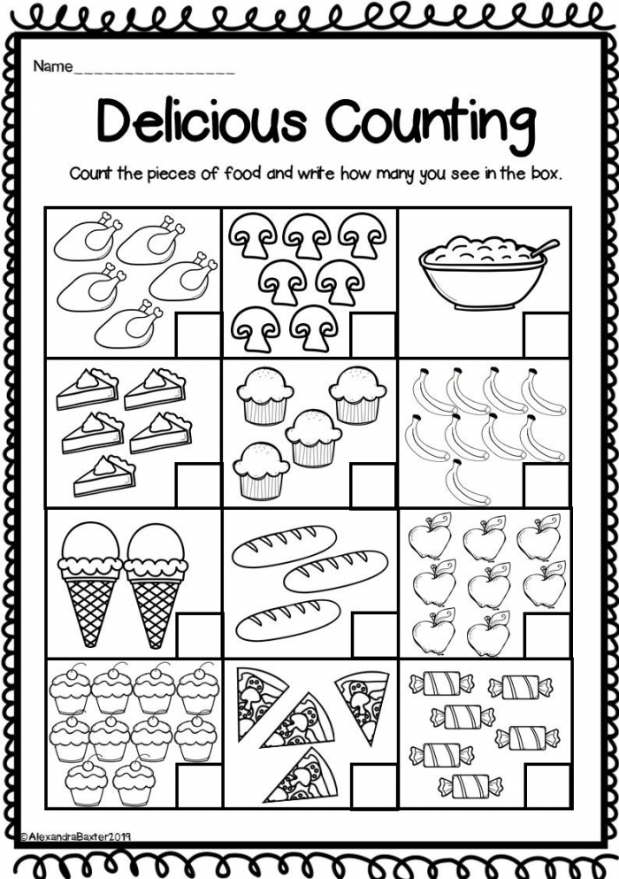 This Product Includes  Different Worksheets For Counting