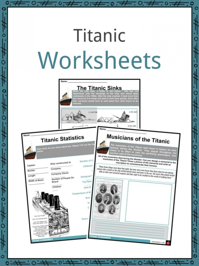 Titanic Facts  Worksheets   History For Kids