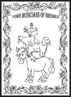 Color The Bremen Town Musicians