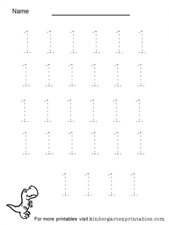 Tracing Numbers  To  Worksheet For Preschool Tracing Numbers