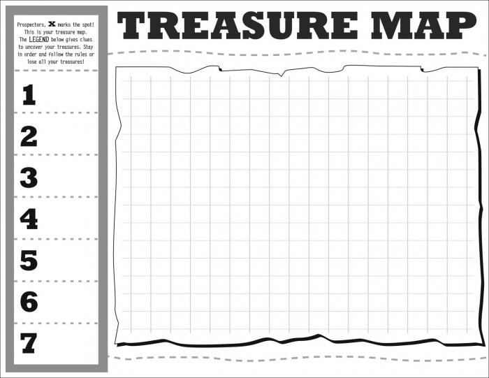 Treasure Map Diy Maptemplate  Hip Hip Hooray