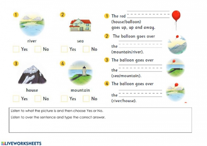 Up  Up And Away Speaking And Listening And Typing Worksheet