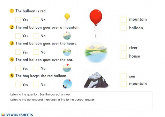 Up  Up And Away Speaking And Listening Worksheet