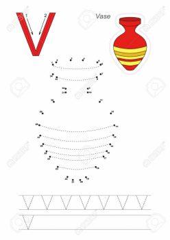 Dot-To-Dot Alphabet: V