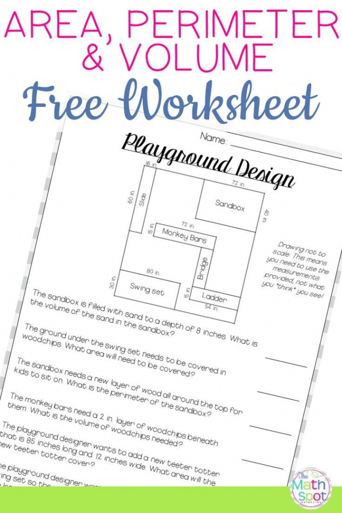 Volume Area Perimeter Worksheet Free