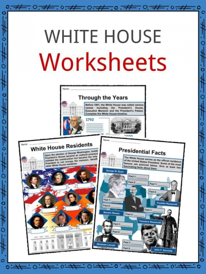 White House Facts  Worksheets  Residents  Structure   History For Kids