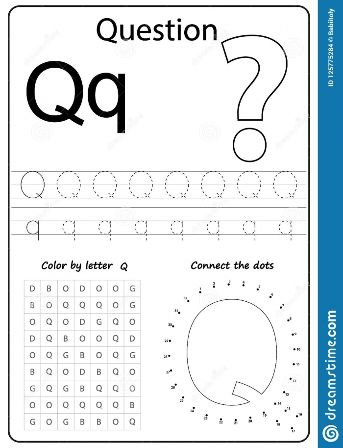 Writing Letter Q Worksheet Writing A