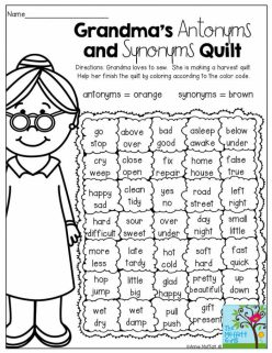 Review: Synonyms And Antonyms