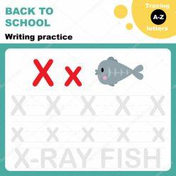 "Cursive Handwriting: ""X"" Is For X-Ray Fish"