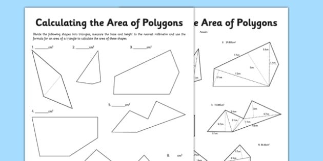 Calculating Area Of Polygons