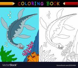 Color The Plesiosaurus