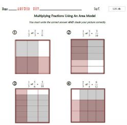 Shade It In! Multiply Fractions With Area Models