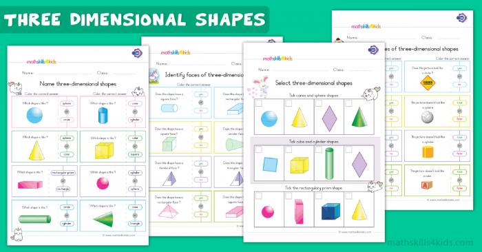 D Shapes Worksheets For Grade