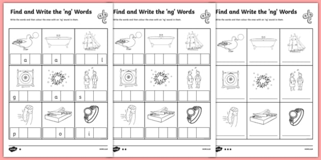 Find And Write Ng Worksheets