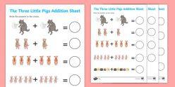 Three Pigs Addition: Adding Three Numbers