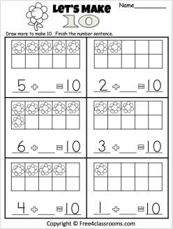 Practice Adding And Subtracting With Ten Frames