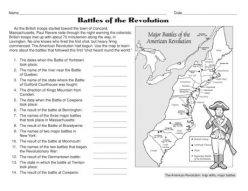 Informational Writing: Battles Of The American Revolution