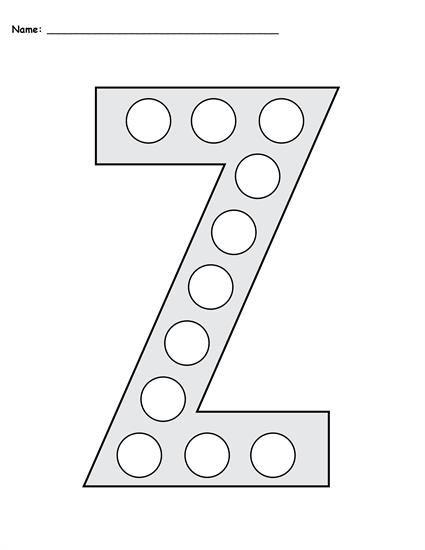 Free Letter Z Do