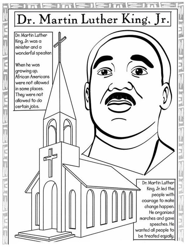 Martin Luther King, Jr. Coloring Page Worksheets 99Worksheets