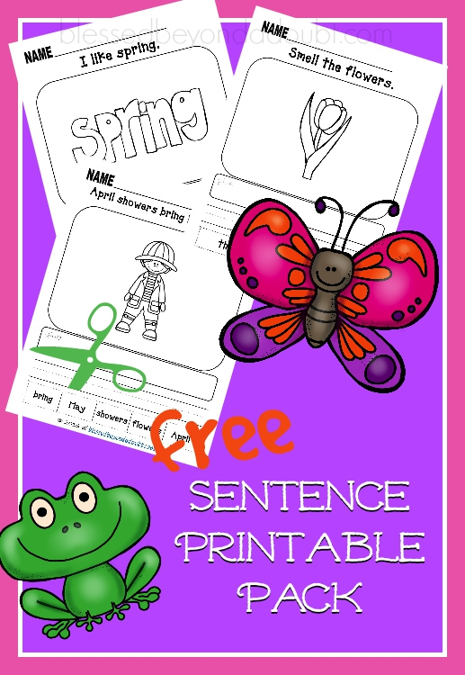 Free Sentence Printable Pack