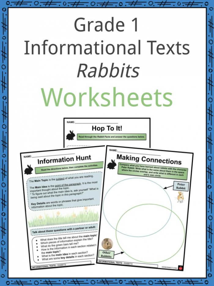Grade  Informational Texts Rabbits Facts   Worksheets For Kids