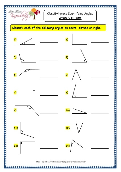 Grade  Maths Worksheets  Geometry Classifying And