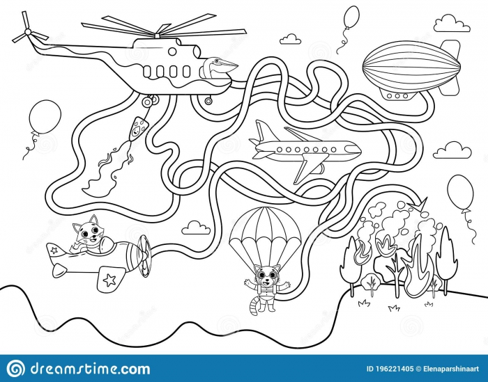 Helicopter Maze Game Stock Illustrations   Helicopter Maze Game