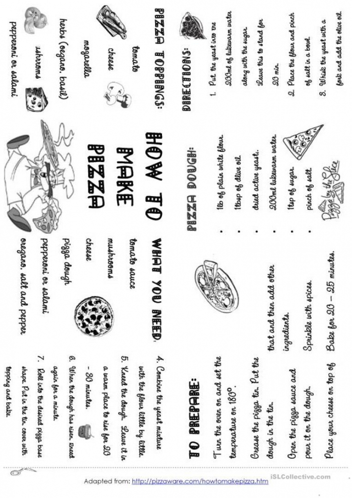 How To Make Pizza Minibook