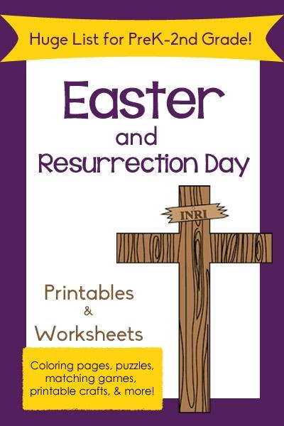 Huge List Of Easter Printables For Preschool To Nd Grade