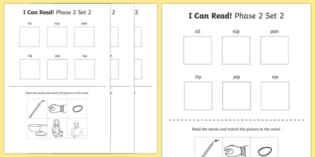 I Can Read Phase  Set  Words Worksheet  Worksheet