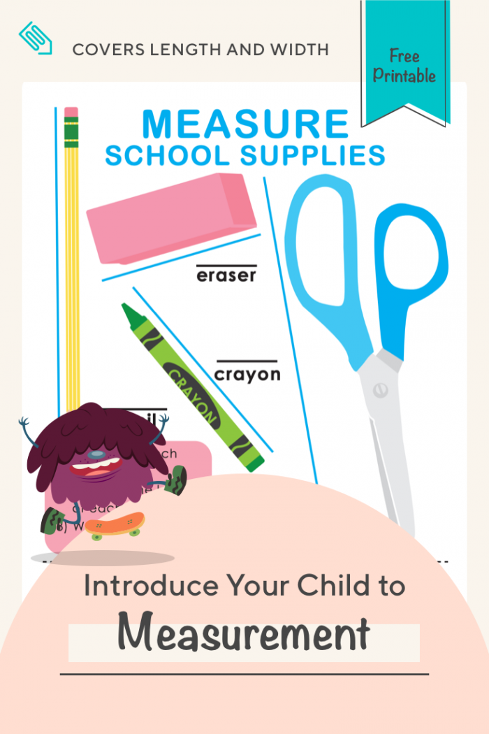 Length And Width Measure School Supplies