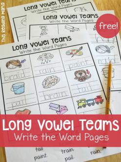 """Vowel Team Review: """"Ea"""""""