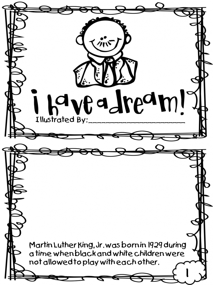 Martin Luther King, Jr. Coloring Page Worksheets ...