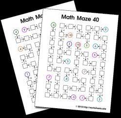 Math Maze: Subtraction