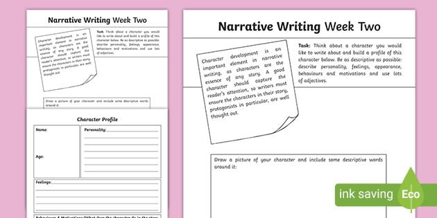 Narrative Writing Week Two Homework