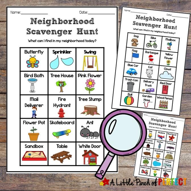 Neighborhood Scavenger Hunt Free Printable Fun For Kids
