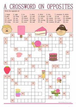 Opposites Crossword: What's The Antonym?
