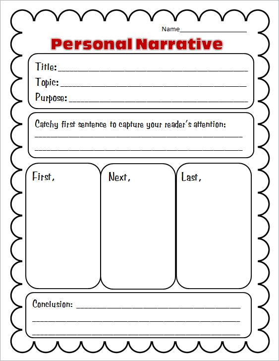 Personalnarrativeorganizer Graphic Organizers For Personal