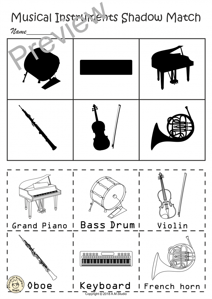 Pin On Musical Instrument Activities