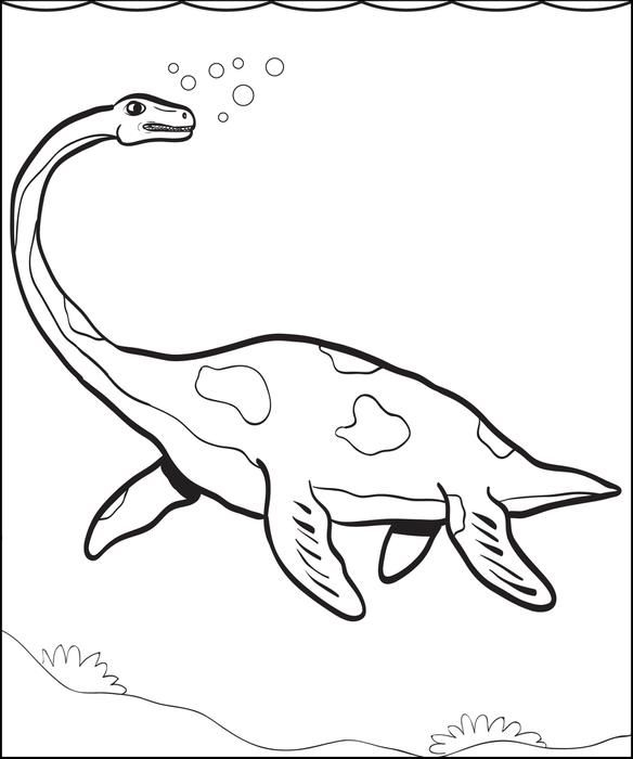 Plesiosaur Dinosaur Coloring Page