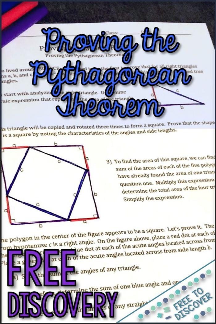 Pythagorean Theorem Proof Worksheet