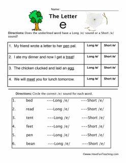 """Long """"E"""" Sound"""